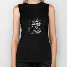yin and yang Biker Tank