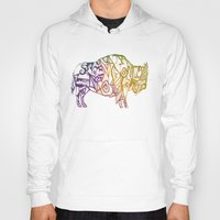 bison Hoodies featuring Bison. by Stefani Reeder