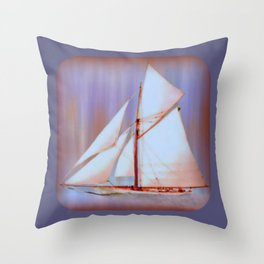 Ghost Sails Throw Pillow
