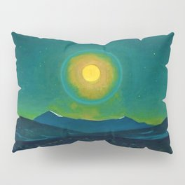 Winter Moonlight Mountain Landscape by Rockwell Kent Appalachian Pillow Sham