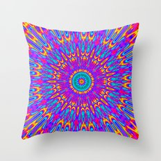 Happy Colors Explosion Throw Pillow
