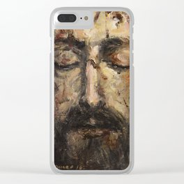 Holy Face Clear iPhone Case