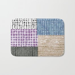 Primavera Mixed Pattern Bath Mat