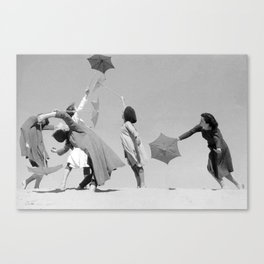 Umbrella ballet Canvas Print