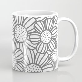 Field of daisies - gray Coffee Mug