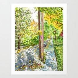 Brookline Sunshine Art Print