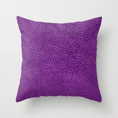 purple old leather Throw Pillow