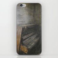 piano iPhone & iPod Skins featuring Piano by Claudia Ma