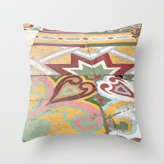 Floor Tiles Throw Pillow