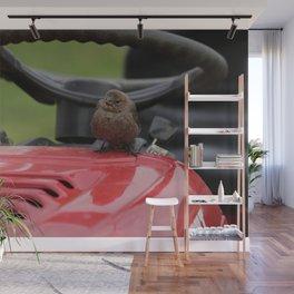 Cowbird Rider Mower Wall Mural
