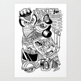 panic for love Art Print