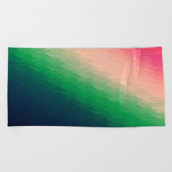 Deconstructed Pink Rose TEXTURE Beach Towel