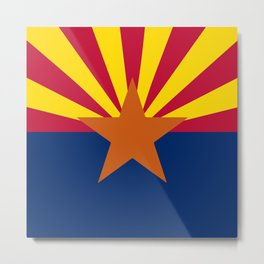 Arizona State Flag Metal Print
