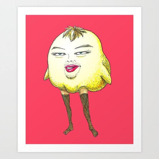 ugly angry angry baby bird Art Print