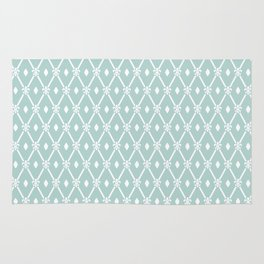 Trendy Elegant Modern Trellis Pattern Rug