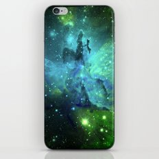 Blue Green Floral Space Explosion iPhone & iPod Skin