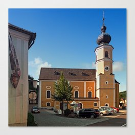 The village church of Helfenberg I   architectural photography Canvas Print