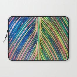 503 - Canna Leaf Abstract Laptop Sleeve