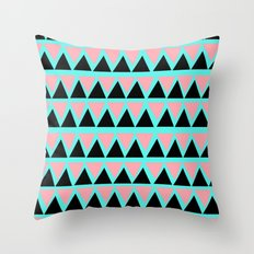 Electric Triangle  Throw Pillow