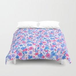 Flower Field Lilac Blue Duvet Cover