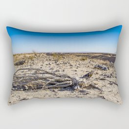 Uprooted Ocotillo Plant in the Middle of Dust and Rocks in the Anza Borrego Desert, California Rectangular Pillow