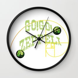Go! Go! Zeppeli Wall Clock