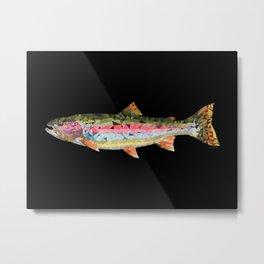 Geometric Rainbow Trout Metal Print
