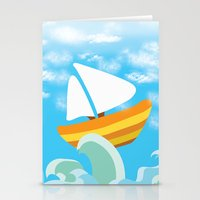 sail Stationery Cards featuring Sail by Lany Nguyen