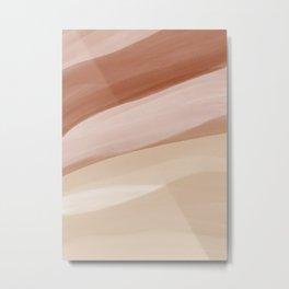 Abstract Watercolor Desert Metal Print