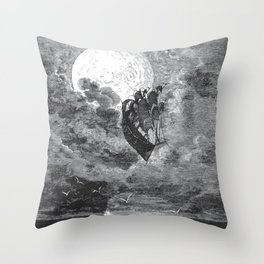 Gustave Dore: A Voyage To The Moon Throw Pillow