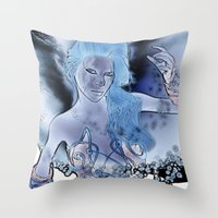fairy Throw Pillows featuring Fairy  by nicky2342