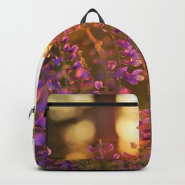 Spring Photography - Verbenas In The Sunset Backpack