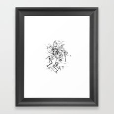 R0B0-H34RT (Robot Heart) Framed Art Print