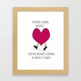 Lauf, Herz Framed Art Print