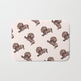 Dog Pattern 2 on Girly Pink Bath Mat