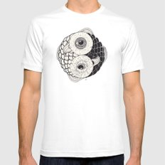 pisces MEDIUM Mens Fitted Tee White