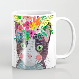 Cat with flowers Coffee Mug