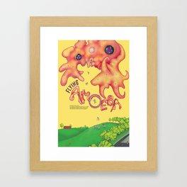 Flying Amoeba (Atmospheric Beasts Poster 2 of 3) Framed Art Print