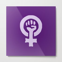 Feminism and Women Power, Equality and Diversity Metal Print