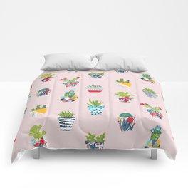 Funny cacti illustration Comforters