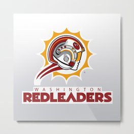 Washington Red Leaders - NFL Metal Print