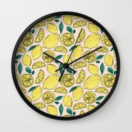 Make Some Freakin' Lemonade - Pink Wall Clock