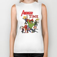 avenger Biker Tanks featuring Avenger Time! by ArtisticCole