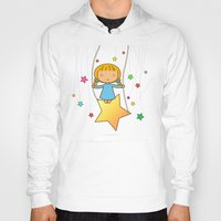 starry night Hoodies featuring Starry Night by Pigtails