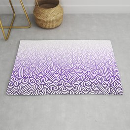Gradient purple and white swirls doodles Rug