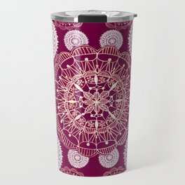 Berry and Bright Patterned Mandalas Travel Mug