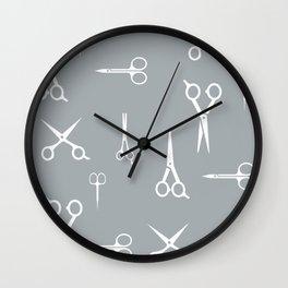 Hair Scissors Wall Clock