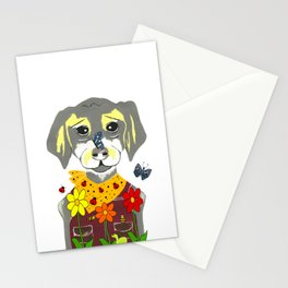 Botanical Pup Stationery Cards