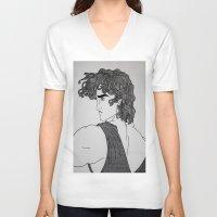 hercules V-neck T-shirts featuring Hercules by lamya alghanem