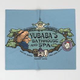 Yubaba's Bathhouse Throw Blanket